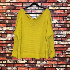 4X Forever21+ Mustard Yellow Off Shoulder Sweater